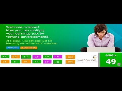 NeoBux AdPrize Bonus up to 75$ Free Registration