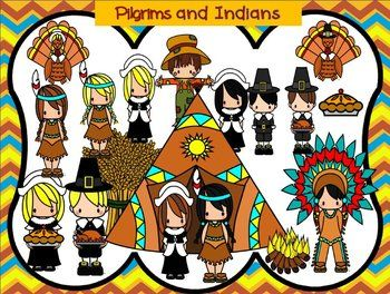Pilgrims Thanksgiving And Indian On Pinterest