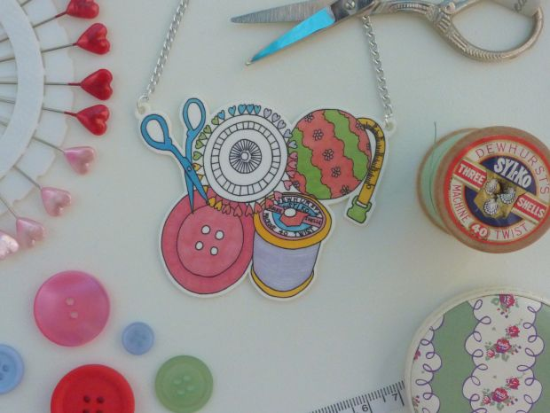 Sewing basket necklace