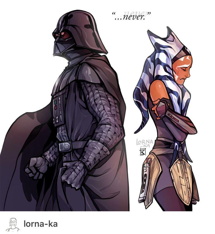 Darth Vader and Ashoka  Tano