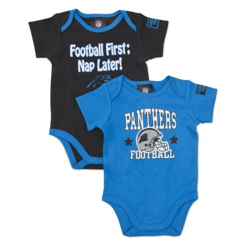 NFL Carolina Panthers Boy's Short Sleeve Bodysuit  http://allstarsportsfan.com/product/nfl-carolina-panthers-boys-short-sleeve-bodysuit/  Wide leg openings to provide a comfy fit over diaper 100% cotton interlock with a loose fit design for all day comfort Includes two short-sleeve bodysuits