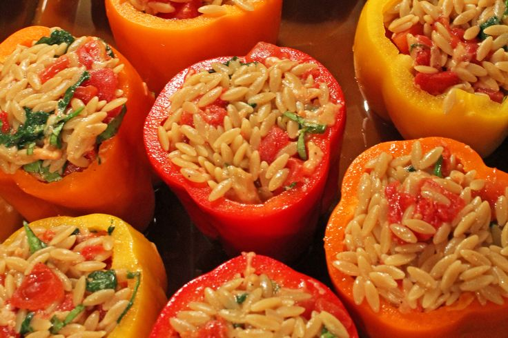 Orzo Stuffed Peppers | A personal favorite!