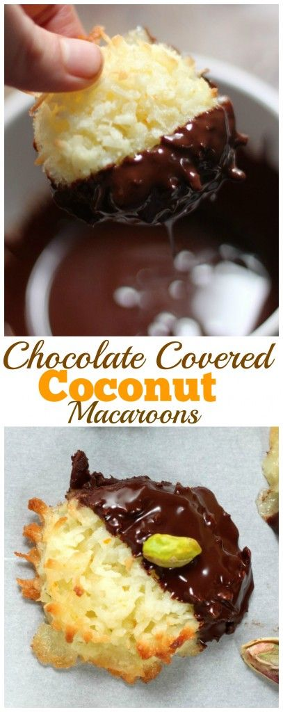 Chocolate Covered Coconut Macaroons - So easy to make at home and perfect for Easter or Mother's Day!