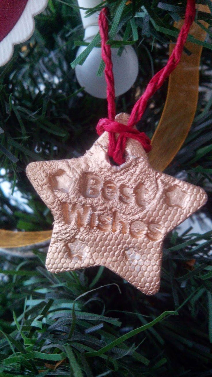 DIY: estrellas para el árbol de Navidad con pasta de modelar.