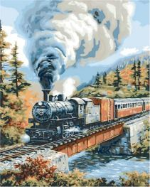 Plaid ® Paint by Number - Steam Locomotive | Plaid Enterprises