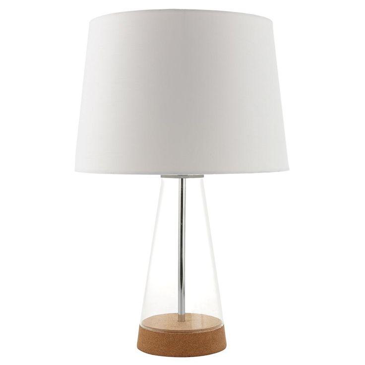 Lampe de table avec base en verre et liège/LAMPES DE TABLE/LUMINAIRES|Bouclair.com