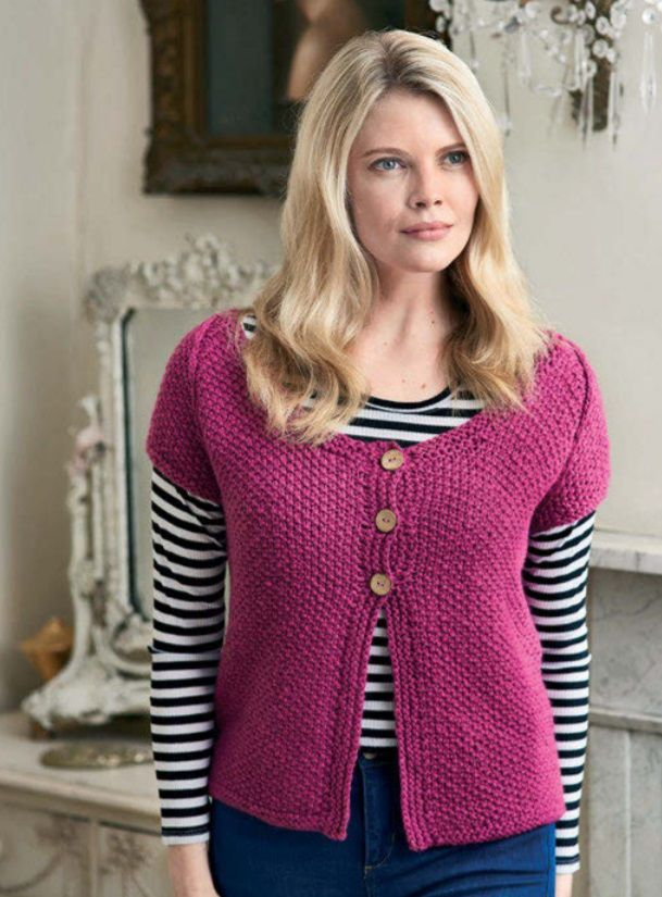 Free Knitting Pattern For A Womens Simple Cardigan Knit Sweater