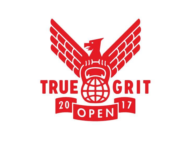 True Grit Open 2017 Workout Training Weightlifting Eagle Fitness Gym Kettle Bell True Grit Kettlebell Brand Identity Logotype Logo Logo Design True Grit Logo