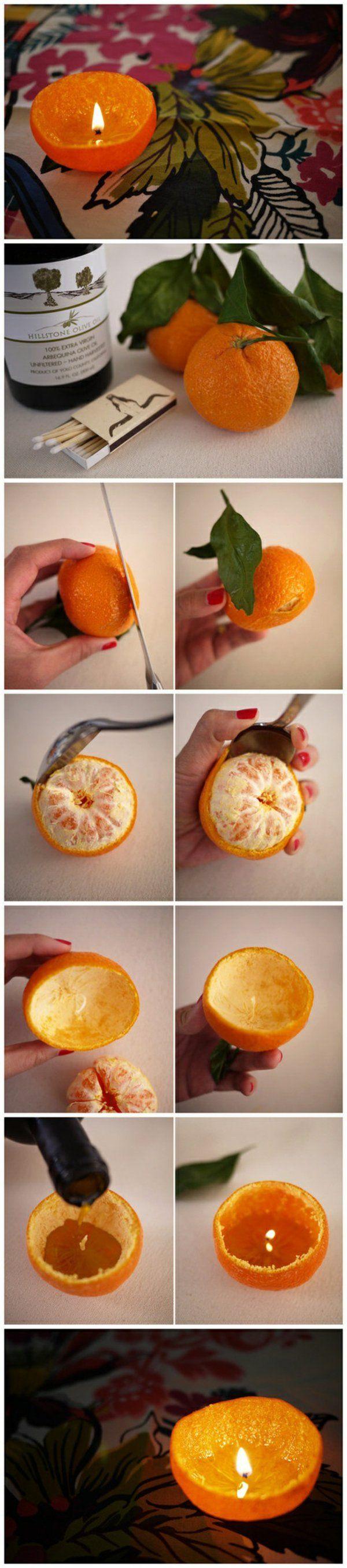 orangen kerzenständer selber basteln