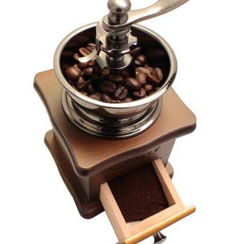 Clássico De Madeira Mini Manual do Moedor De Café de Aço Inoxidável Café Retro Moinho Da Especiaria Com Porcelana de Alta Qualidade Movimento
