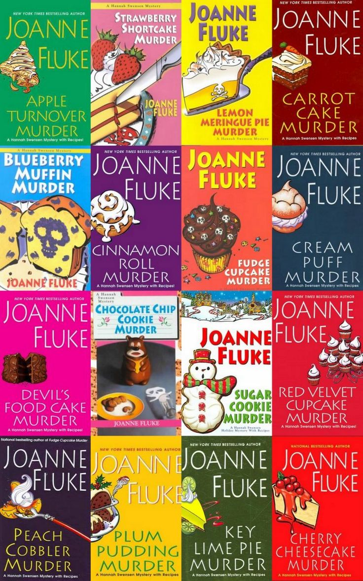 "Joanne Fluke's ""Hannah Swensen"" culinary and mystery series.//love her books"