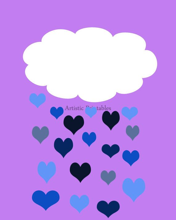 Bright and cheerful purpleblue and white by ArtisticPrintables
