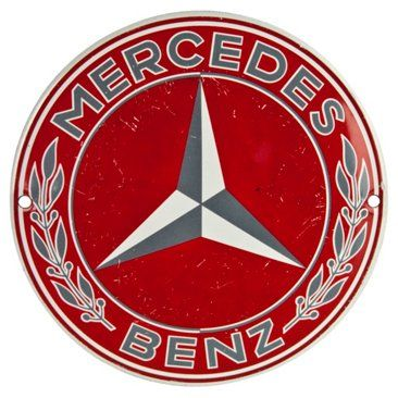 Check out this item at One Kings Lane! French Enamel Mercedes Radiator Badge