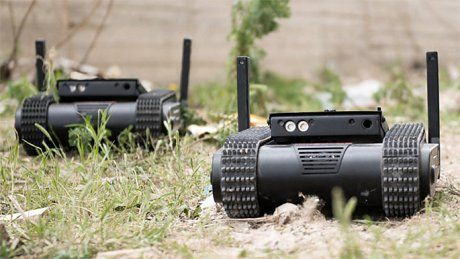 Israeli mini tank drone armed with Glock 9mm