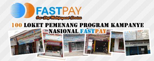 100 Outlet pemenang program kampanye nasional Fastpay https://www.facebook.com/fastpaypartner