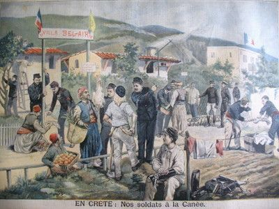 French soldiers in Crete. 1897