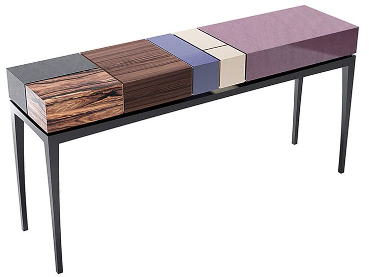 Rectangular wooden console table with drawers PROPORTION II EUPHORIA Collection by Malabar Emotional Design