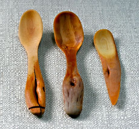 Hand-carved wooden spoons.