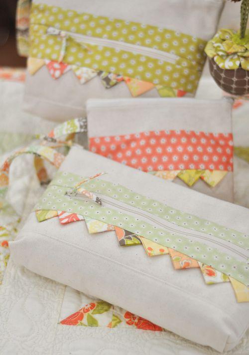 Zippered pouches - so cute!