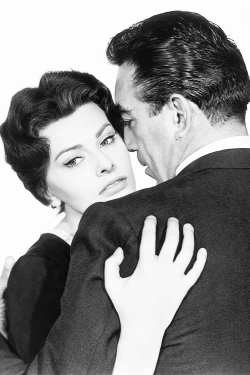 """Sophia Loren and Anthony Quinn in """"The Black Orchid,"""" 1958."""
