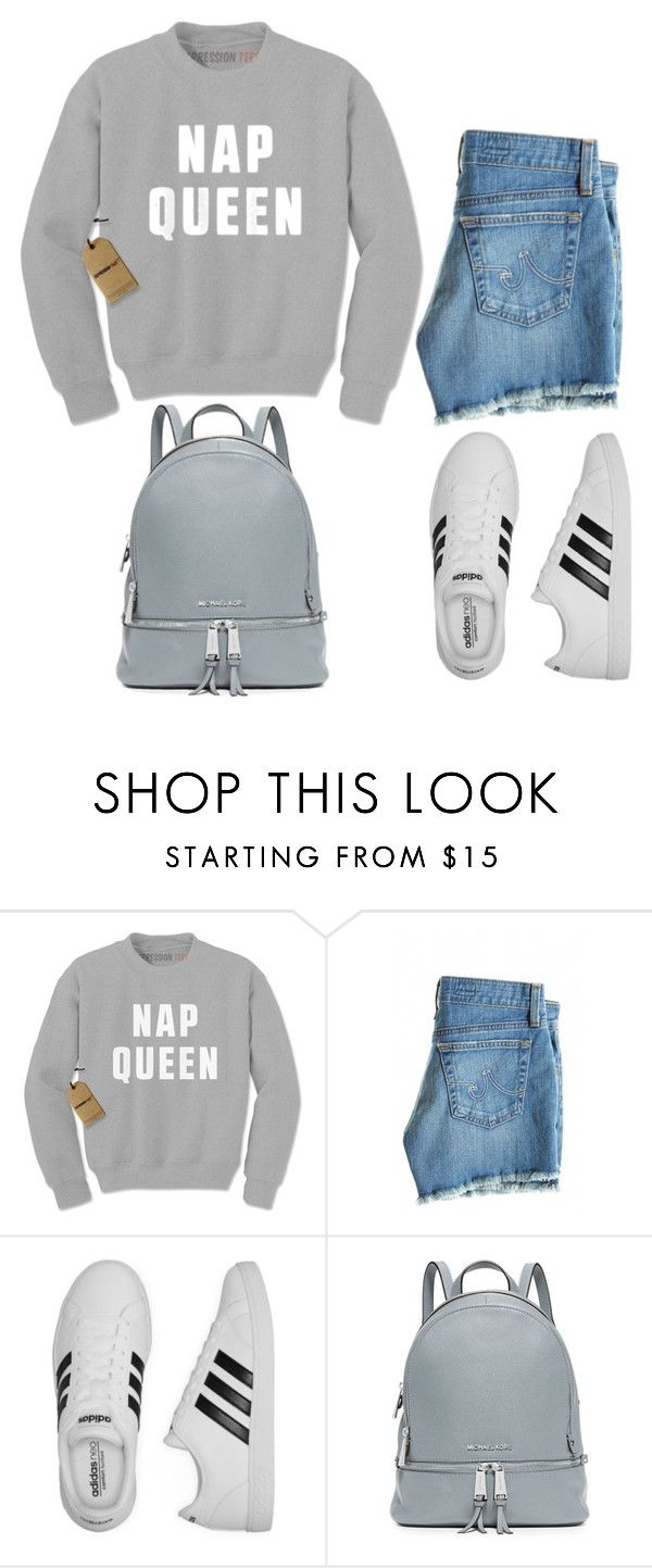 Untitled #7 by raven-blackk on Polyvore featuring AG Adriano Goldschmied, adidas and MICHAEL Michael Kors