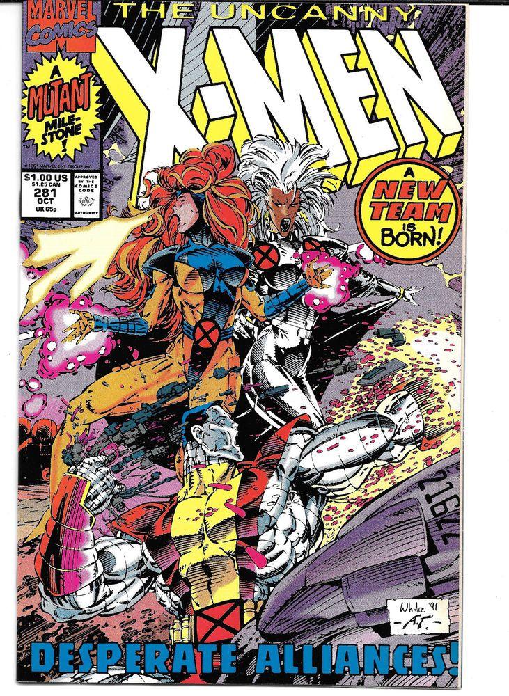 Uncanny X Men 281 Very Fine 1991 Marvel Comics A New Team Is Born Marvel Comics Covers X Men Xmen Comics