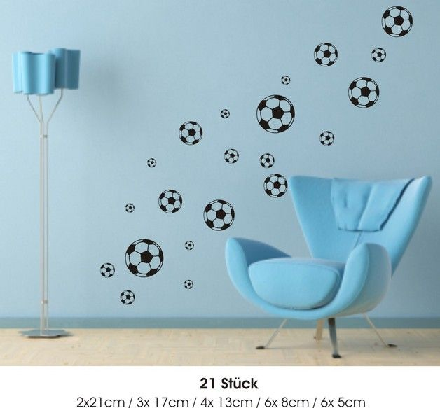 Wandtattoo - Fußball Wandaufkleber W362 - ein Designerstück von wandkleberei bei DaWanda