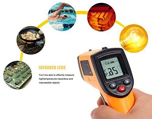 Temperature Temp Meter Gun Non-Contact Digital Laser Infrared IR Thermometer US #EarMe