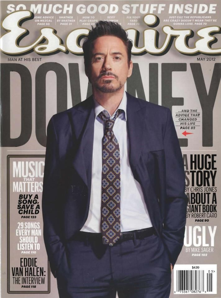 The May issue of Esquire features Robert Downey Jr. aka Iron Man
