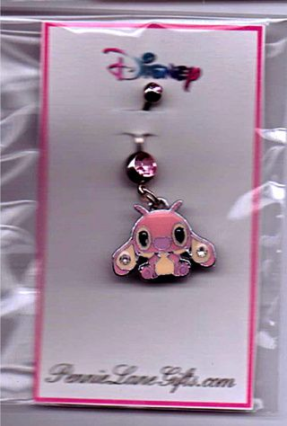"""NEW ADORABLE DISNEY STITCH  BELLY RING NAVEL RING ~ Approx 1"""" long ~ 14 g surgical steel"""