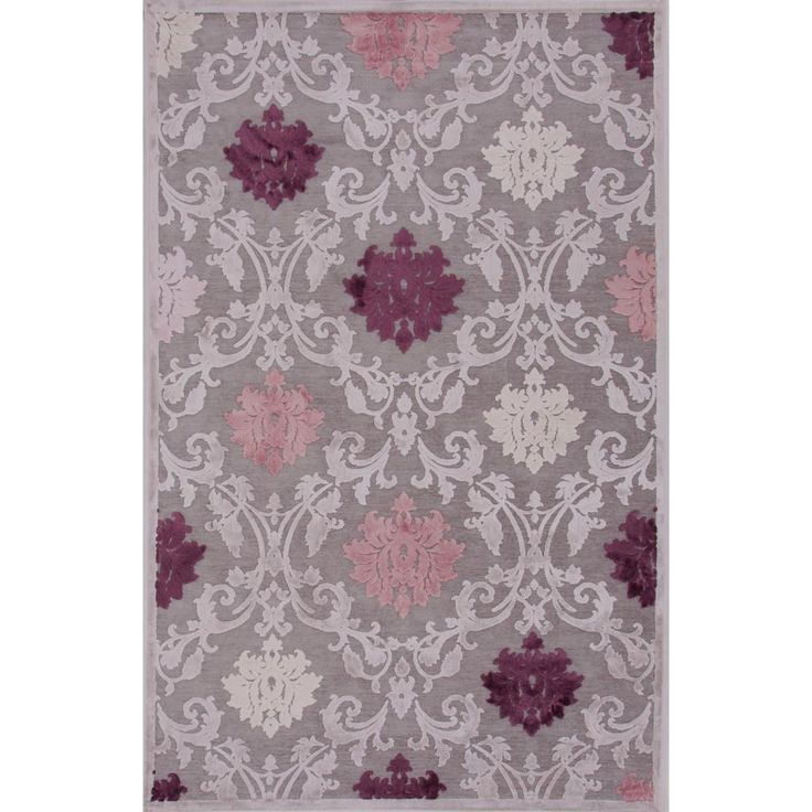 Machine Made Wild Dove 2 ft. x 3 ft. Damask Accent Rug, Wild Dove/Wind Chime