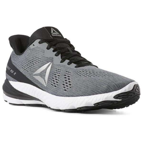 Download Reebok Shoes Men S Sweet Road 2 In Grey Blk Wht Size 9 5 Running Shoes Running Shoes Grey Running Shoes For Men Reebok