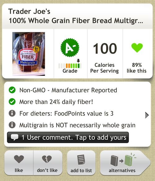 Does Your Grocery List Contain GMO Foods? Fooducate has an App for...