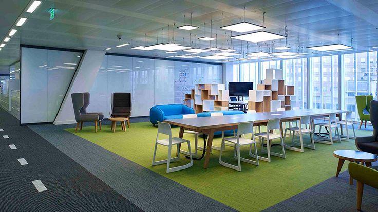 Nulty - News Corp UK, London - Workplace Office Meeting Feature Illumination Sustainable Lighting Design