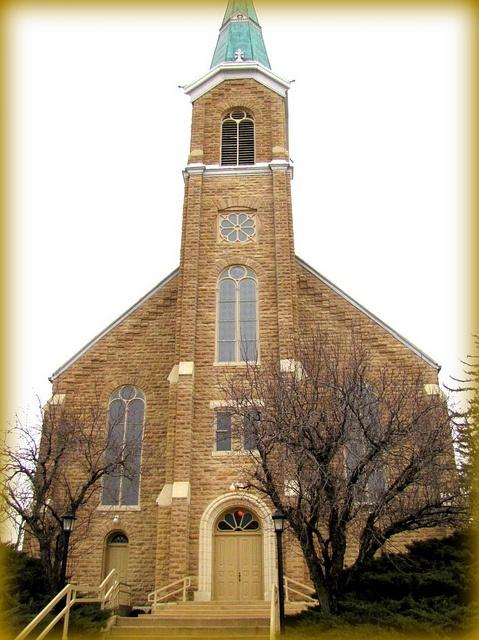 The huge St. Marys Catholic Church -    St. Benedict, Kansas.