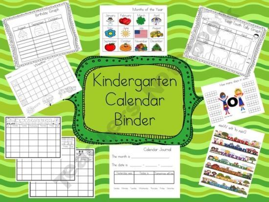 Calendar Math Binders Kindergarten : Best images about calendar binders on pinterest