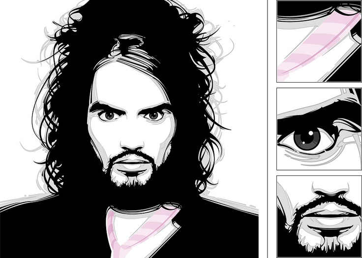 'Russell Brand' - 2008 by Baz Pringle