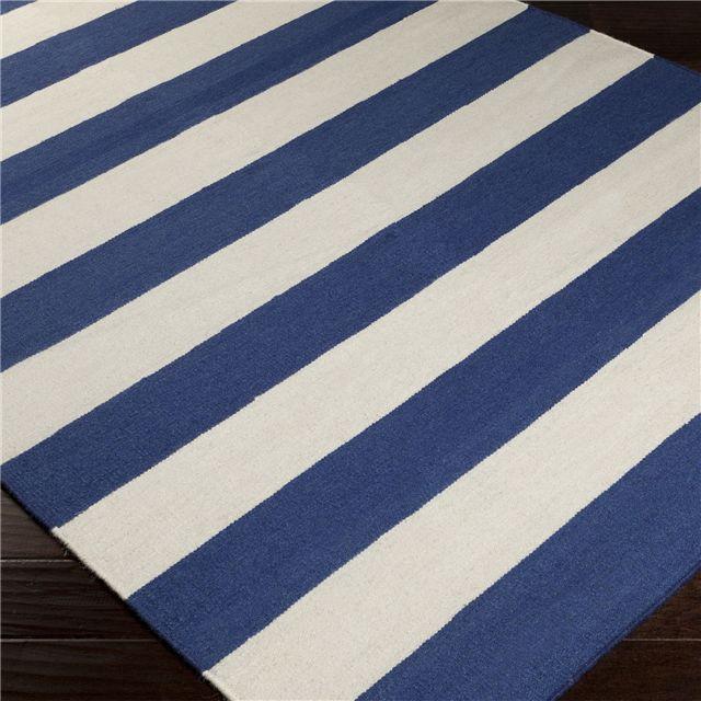 Surya Frontier Stripe Hand Woven Flatweave Rug