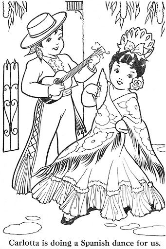 spanish culture coloring pages online - photo#3
