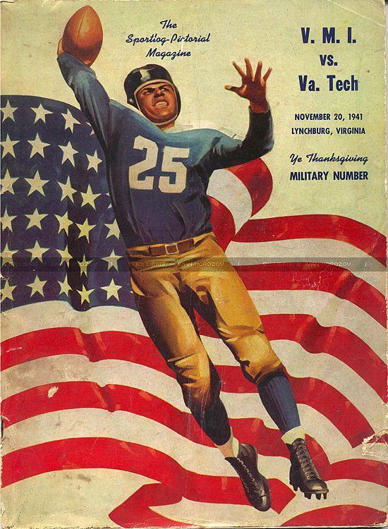 Vintage game program v VMI. Texas tech football