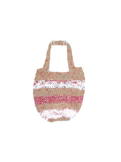 Recycled Plastic Grocery Bag  Market Beach or Tote by SmallGreyCat, $25.00