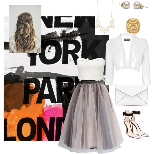 A fashion look from February 2015 featuring white bralet top, Phase Eight and mesh skirt. Browse and shop related looks. An elegant look from my opinion. Hope you guys like it