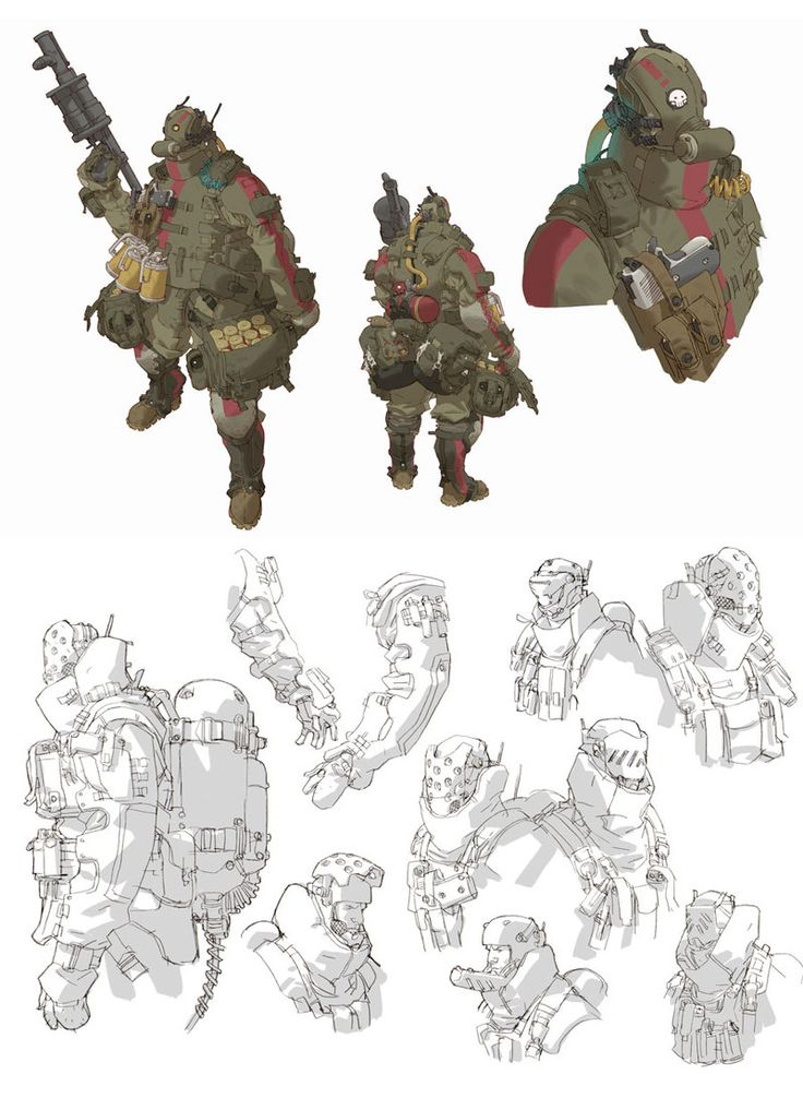 ArmyofTwo_conceptarts_02 || CHARACTER DESIGN REFERENCES | Find more at https://www.facebook.com/CharacterDesignReferences if you're looking for: #line #art #character #design #model #sheet #illustration #expressions #best #concept #animation #drawing #archive #library #reference #anatomy #traditional #draw #development #artist #pose #settei #gestures #how #to #tutorial #conceptart #modelsheet #cartoon