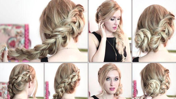 Tuto coiffure de Katniss Everdeen, Hunger Games ❤ Chignon pour les fêtes/jour de l'an - YouTube