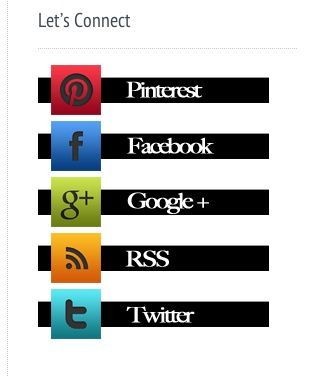 cool social media icons / layout