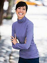 Instantly Slimming Scrunchneck Top and other Womens Tees. | Appleseeds