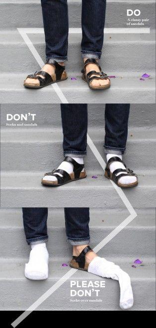 Quegli orrori della moda uomo: mai i sandali con i calzini