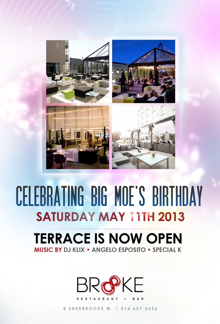 Join us on May 11th for Big Moe's birthday bash!