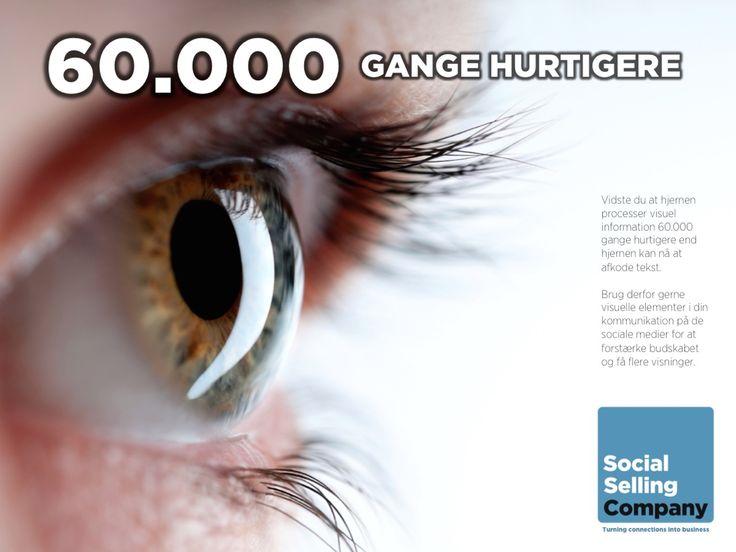 60.000 gange hurtigere! Vidste du at hjernen processer visuel information 60000 gange hurtigere end hjernen kan nå at afkode tekst?