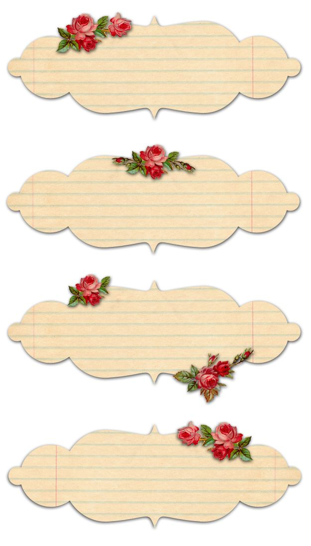 Vintage Freebie Shabby Rose Labels